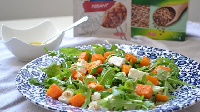 Zdravý recept z tekvice: Rukolový šalát s feta syrom a domácou zálievkou