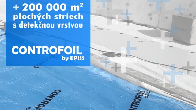 CONTROFOIL už vo viac ako 200 000m2