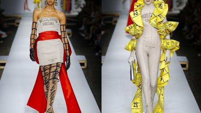 Počmáraná crazy móda z milánskeho móla od Moschino - trendy novinky pre jar/leto 2019