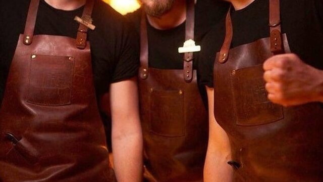 Bar Leather Apron - Large Selection Of Leather Aprons