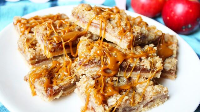 Jablkovo - škoricové tyčinky s karamelom