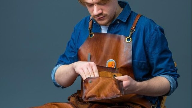 Blacksmith Leather Apron - Large Selection Of Leather Aprons