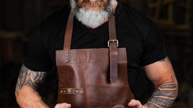 Blacksmith Leather Apron - Leather Work Apron   Laprons