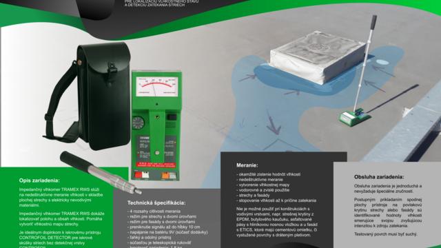 EPISS: Predaj prístrojov pre detekciu zatekania plochých striech