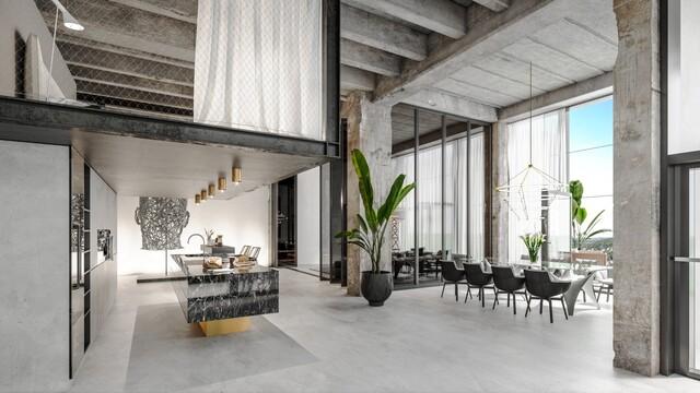 Styl ostrý jako hrany betonu a luxusní bydlení pro ty nejnáročnější