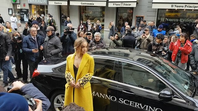 Jasmine Sanders, Olivia Palermo, Ferragni, Xenia Tchoumi ...- street fashion report,  Ermanno Scervino - Milan Fashion Week  2018
