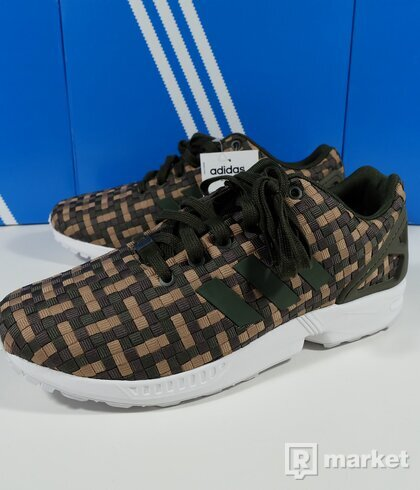 Adidas Originals ZX Flux green camo