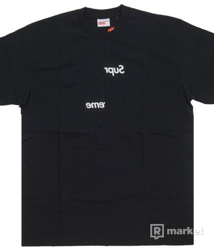 Supreme x CDG shirt split box logo tee