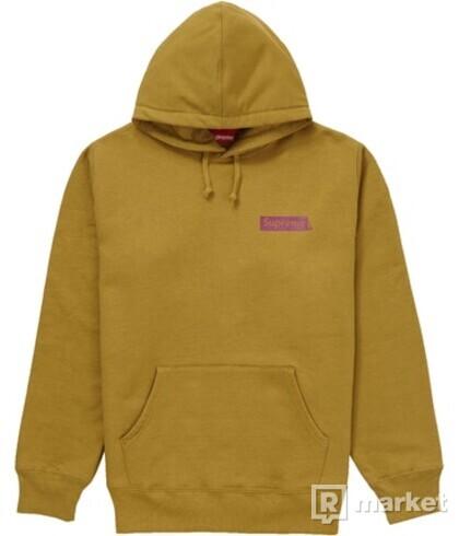 Supreme Stop Crying Hoodie Dark Mustard