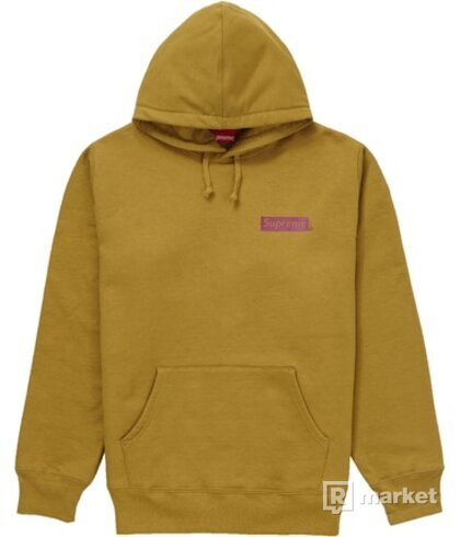 Supreme Stop Crying Hoodie Dark Mustard