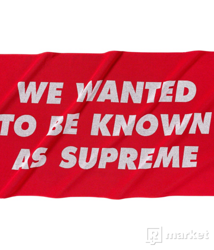 Supreme Known As Towel Red (SS20)