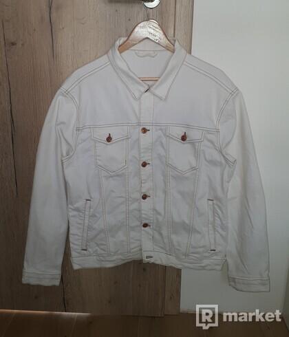 ZARA Basic Denim Jacket White