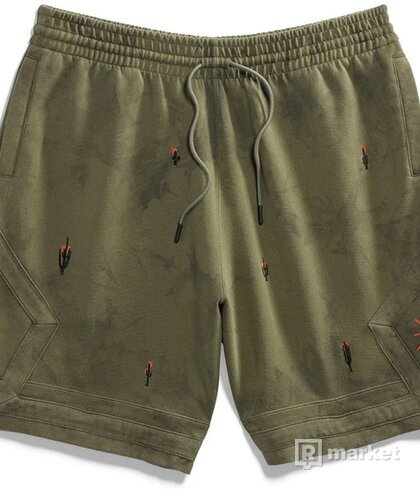 Jordan x Travis Scott Washed Suede shorts olive