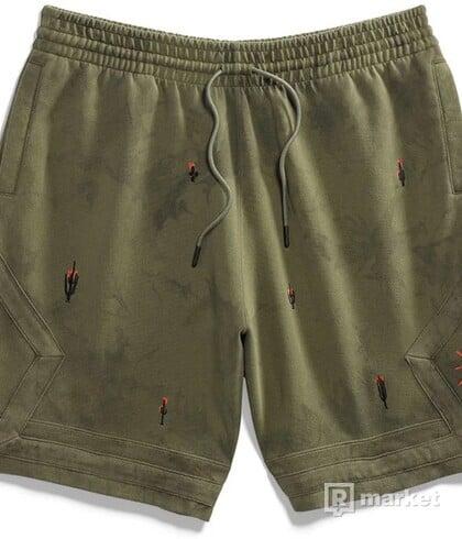Jordan x Travis Scott Washed Suede shorts olive
