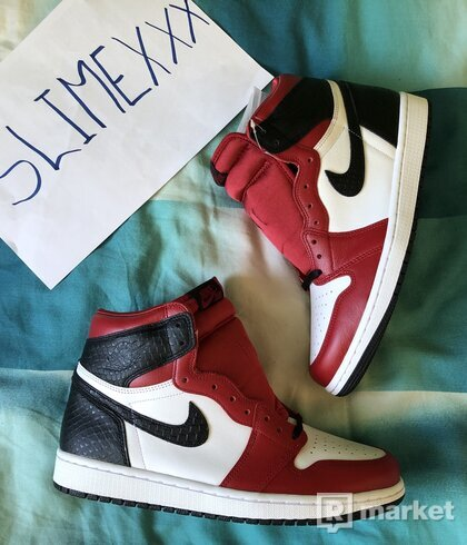 Air Jordan 1 High Satin Snake