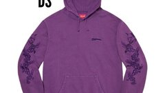 Supreme Dragon Overdyed hoodie purple