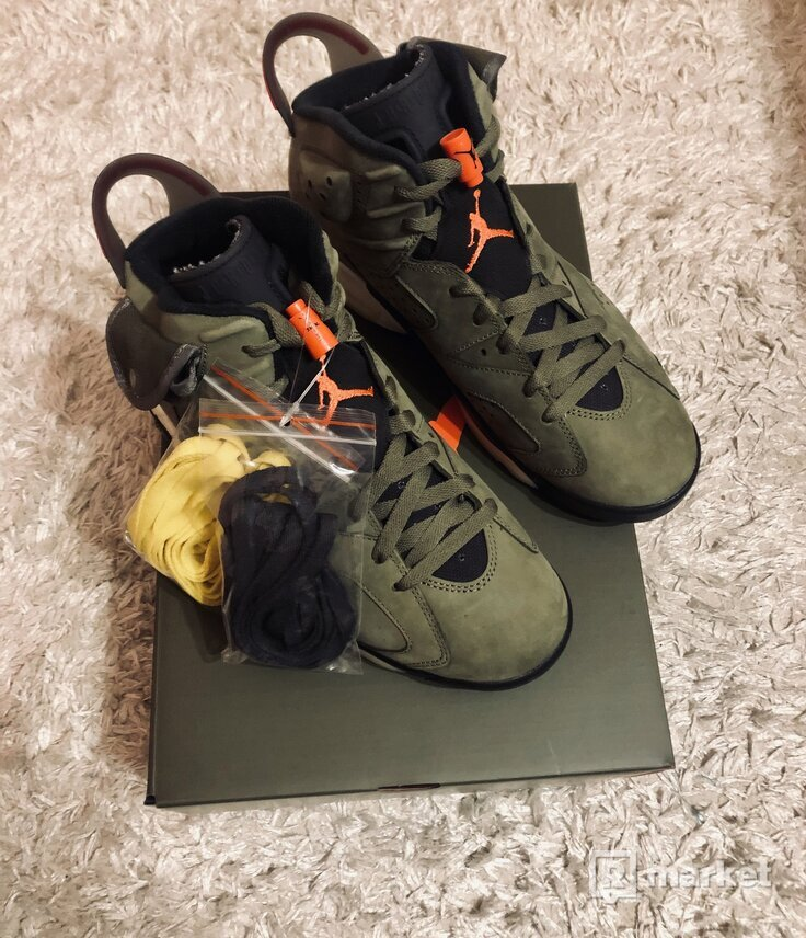 x Travis Scott Cactus Jack Nike AJ VI 6 'Medium Olive' (2019)