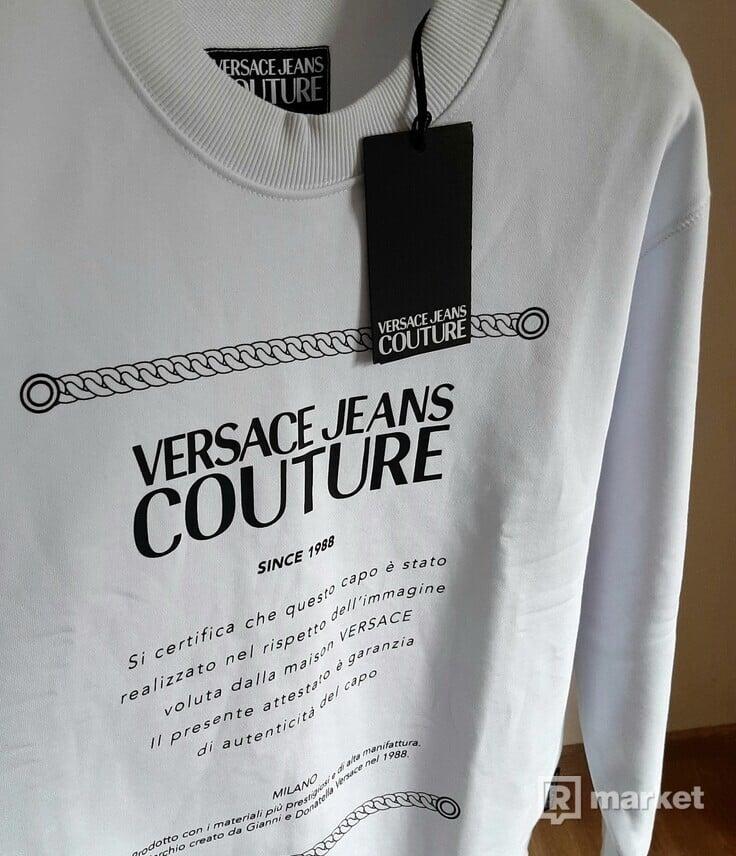 mikina Versace, bílá, 2350 Kč