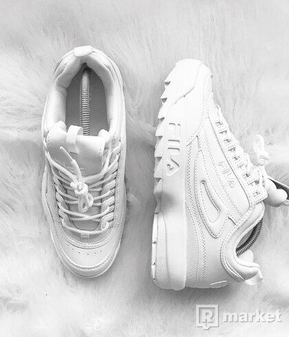 FILA Disruptor II Low Ivory/Triple White