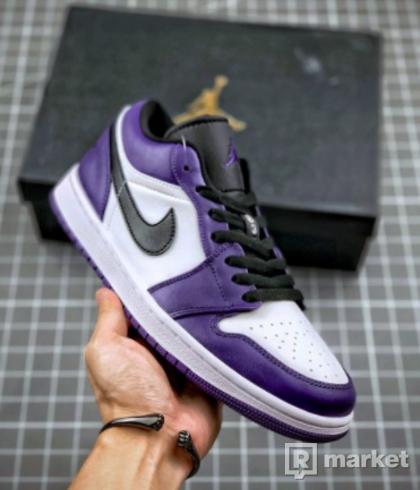 Jordan 1 Low Court Purple White 42, 44