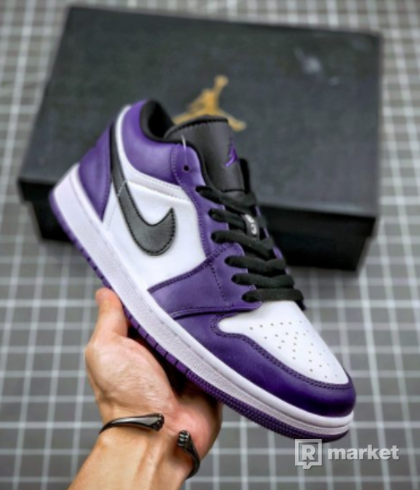 Jordan 1 Low Court Purple White 42, 44