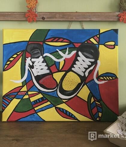 Moderná maľba AJ 1
