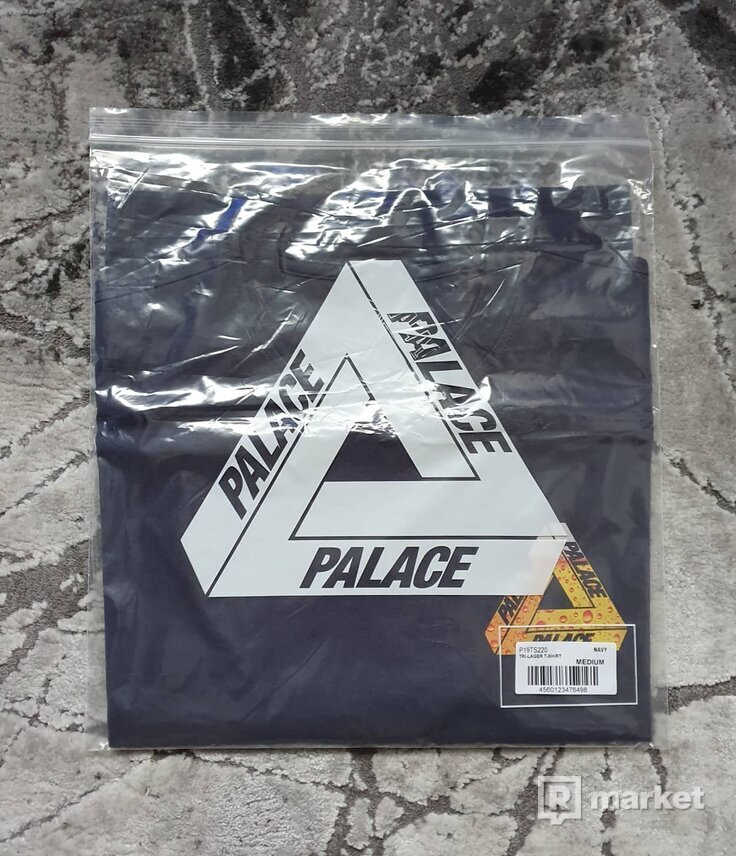 """Palace """"Tri-Lager Tee Navy"""""""
