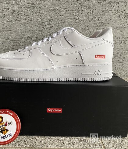 Nike Supreme air force 1 white US 12