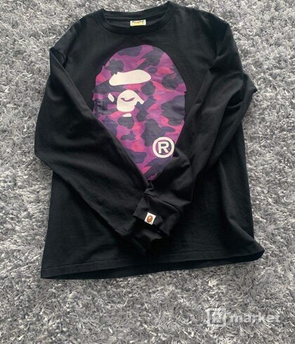 Bape long sleeve t-shirt
