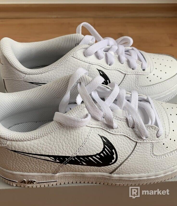 Nike Air Force 1 White Sketch