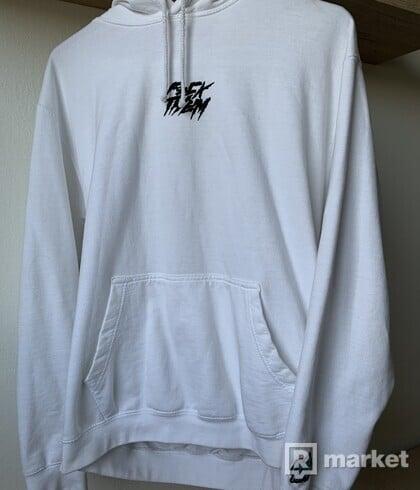 F*CK THEM white hoodie