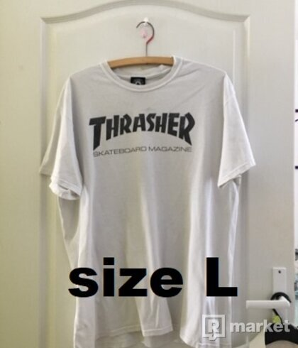 Thrasher tričko biele