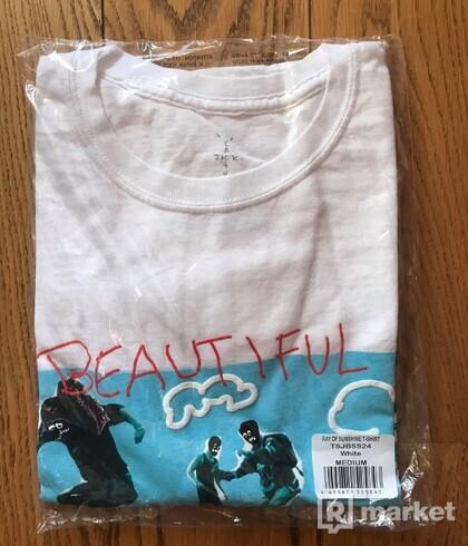 Travis Scott JACKBOYS Ray of Sunshine T-Shirt White