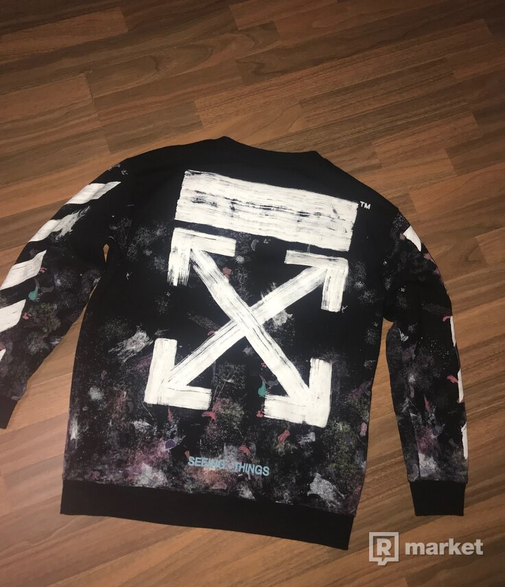 OFF-WHITE GALAXY CREWNECK