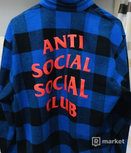 ANTI SOCIAL SOCIAL CLUB MONTREAL BLUE FLANNEL