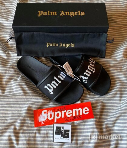 Palm Angels Logo Print Slide Sandals