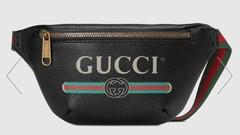 Gucci čierna kožená ľadvinka