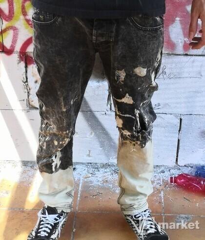 Custom back jeans