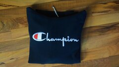 Champion Mikina Reverse Weave Script Logo Hoody Navy