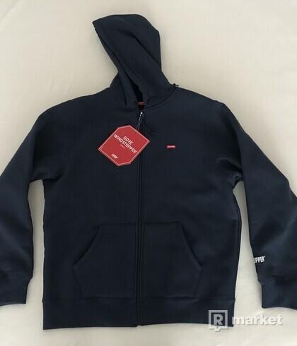 Supreme Windstopper Zip Up Hooded Sweatshirt Navy M