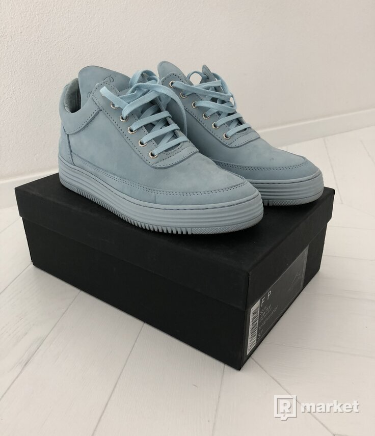 FILLING PIECES LOW TOP SNEAKERS: TONE BABY BLUE