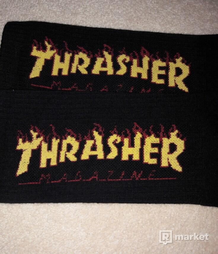 Thrasher ponožky čierne