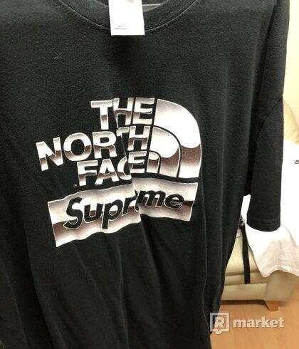Supreme X The North Face Metallic Logo Tee
