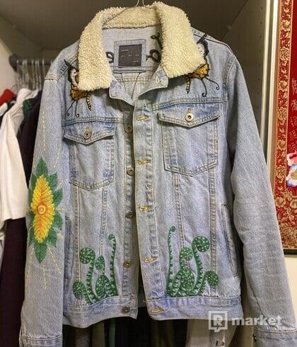 Zara rifľová bunda