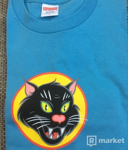 Supreme blackcat tee