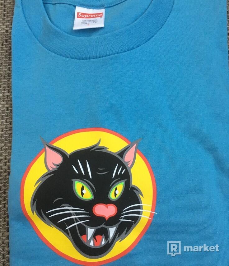 Supreme blackcat tee