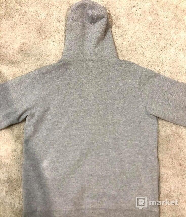 Supreme Corner Labeled Grey Hoodie