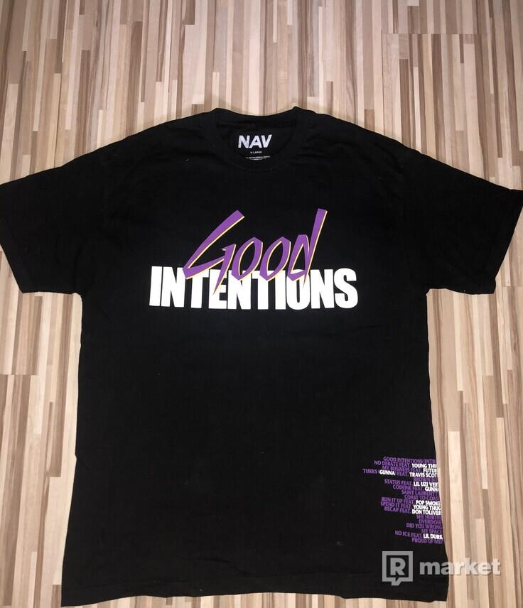 """Vlone X Nav """"Good Intentions Doves"""" Tee"""