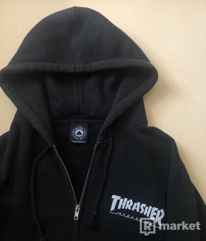 Thrasher zip hoodie