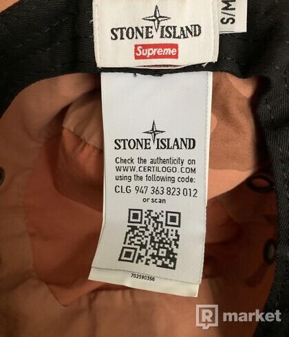 Supreme x Stone Island klobuk